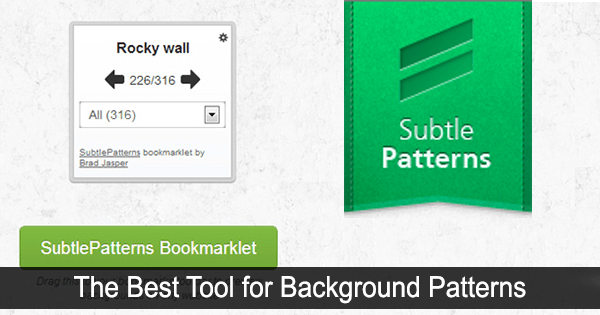Subtle Patterns Bookmarklet: Preview Background Patterns on Your Website