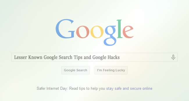 Lesser Known Google Search Tips and Google Hacks
