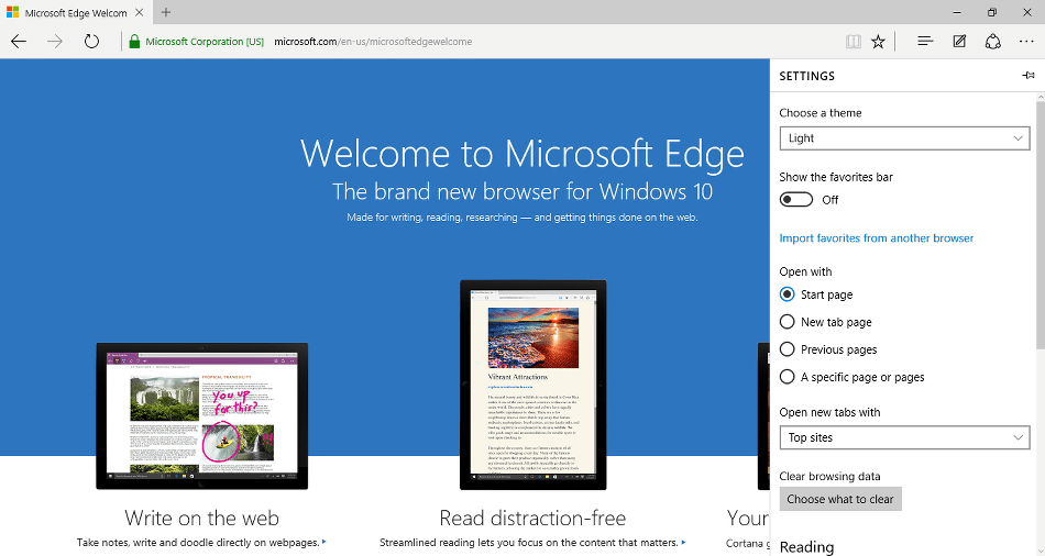 Enable Dark mode on Microsoft Edge