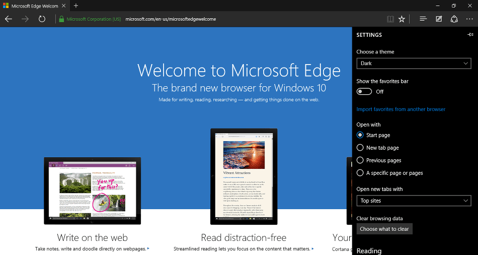 Microsoft Edge Dark Mode