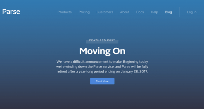 Facebook Shuts Down Parse