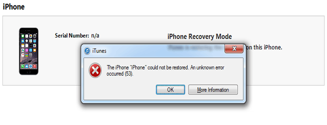 iPhone Error 53