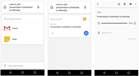 Voice Commands for Google Now