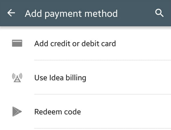 Googl Play Store Carrier Billing India