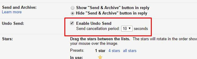 Undo Send Feature