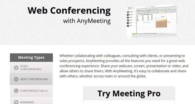 AnyMeeting Video Conferencing Service