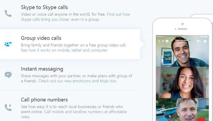 Skype Video Conferencing Service