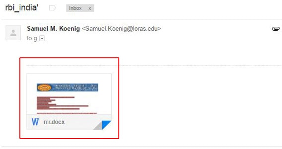 Spam Email Attachment