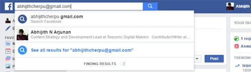 Facebook Reverse Email Search