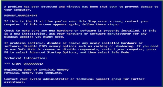 How to Avoid the Blue Screen of Death – An Ultimate Guide to BSOD Memory Management