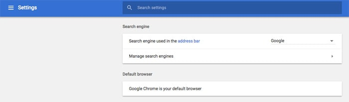 Add Search Engine Chrome Settings