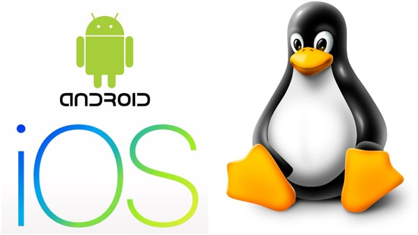 Android iOS Linux Logo