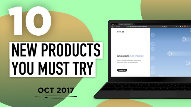 10 Cool New Products and Apps You Had No Idea Existed: October 2017 Edition