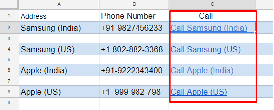 Callable Google Phone Numbers