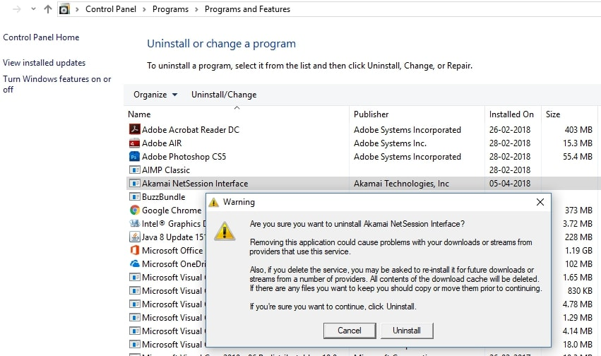 Uninstalling Akamai Netsession From Windows