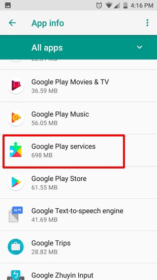 Google Play Services Options