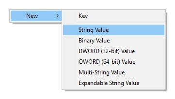 Create New String Value