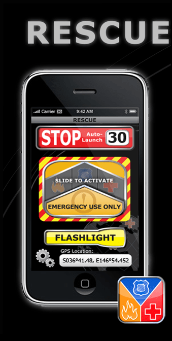 RESCUE iPhone App